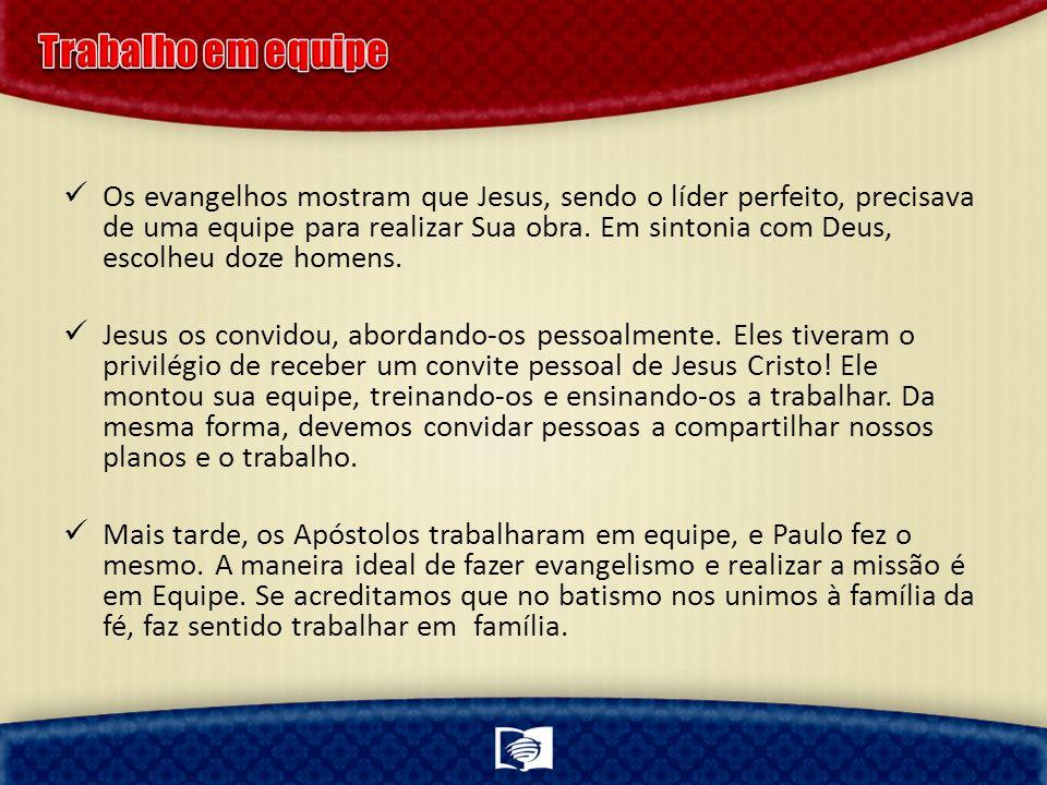 Os evangelhos mostram que Jesus, sendo o líder perfeito, precisava de uma equipe para realizar Sua obra. Em sintonia com Deus, escolheu doze homens. J