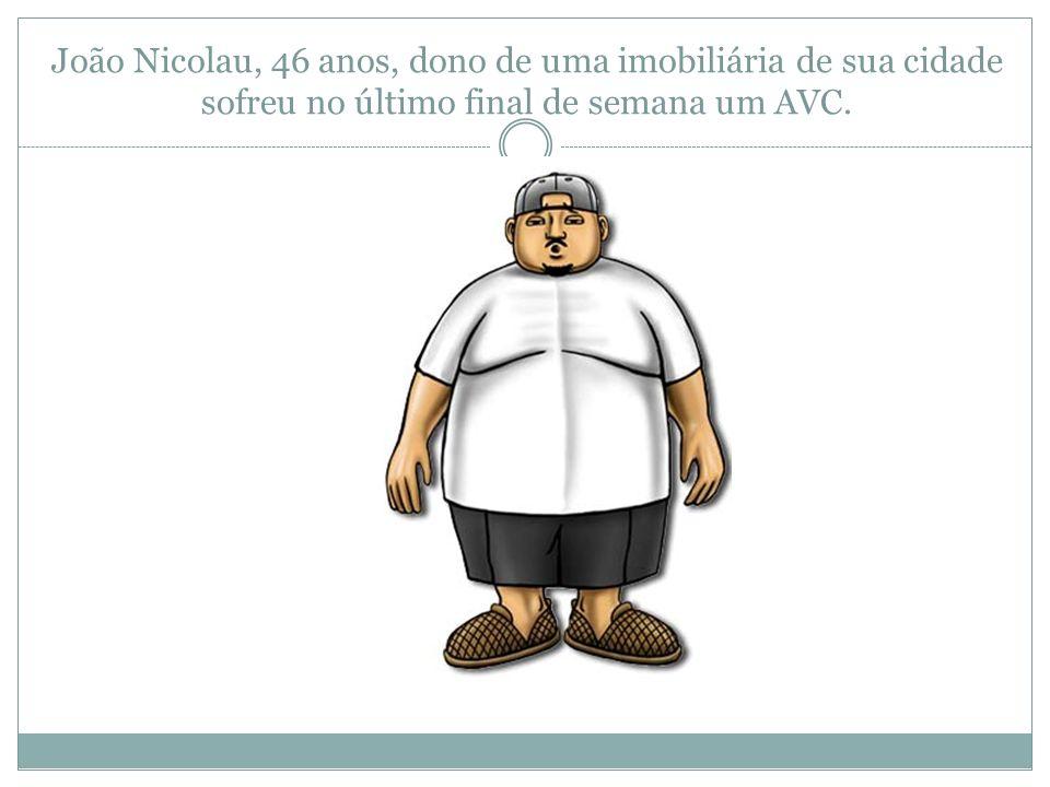 Hipóteses Será que o cardápio de seu João é o responsável pelo AVC e de sua obesidade.