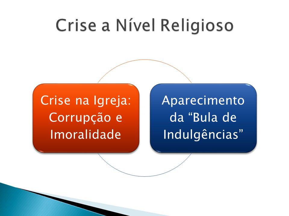 Crise na Igreja: Corrupção e Imoralidade Aparecimento da Bula de Indulgências