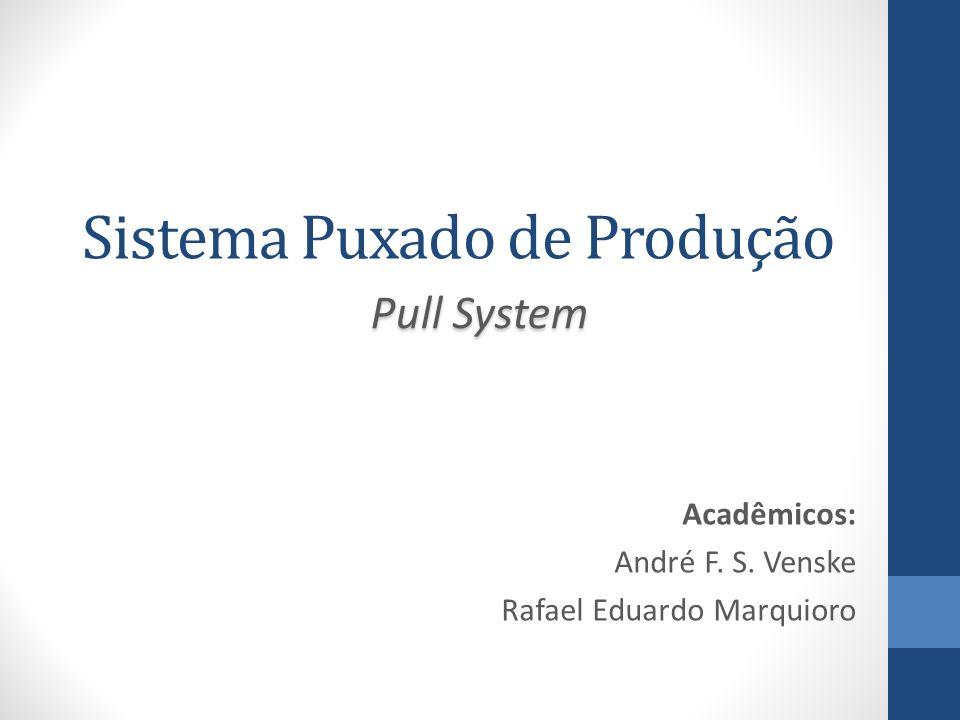 Sistema Puxado de Produção Acadêmicos: André F. S. Venske Rafael Eduardo Marquioro Pull System