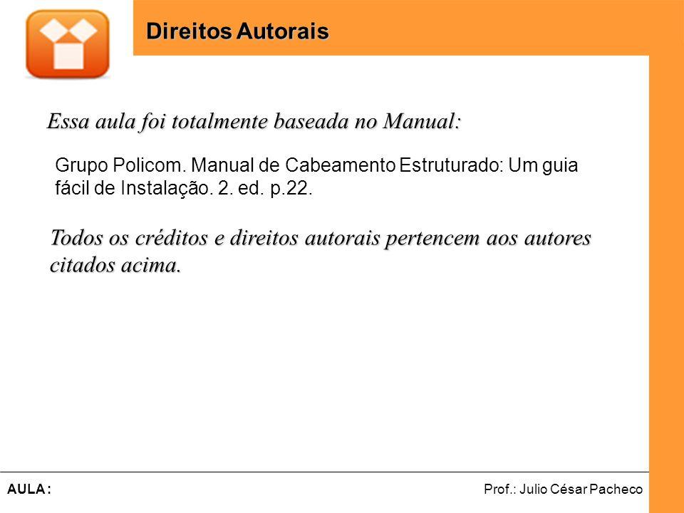 Ferramentas de Desenvolvimento Web Prof.: Julio César PachecoAULA : Essa aula foi totalmente baseada no Manual: Direitos Autorais Grupo Policom.