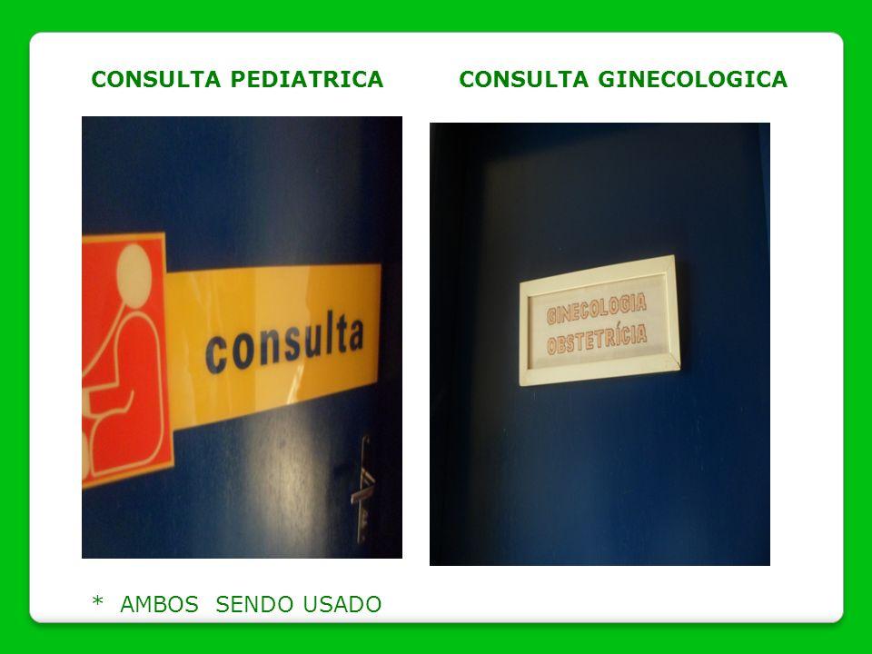 CONSULTA PEDIATRICACONSULTA GINECOLOGICA * AMBOS SENDO USADO