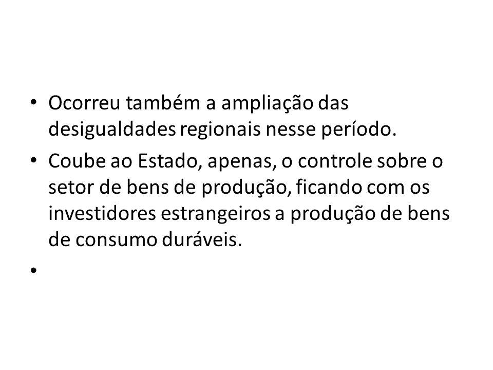 É possível afirmar através de uma visão de síntese do processo histórico da industrialização no Brasil entre 1880 a 1980, que esta foi retardatária cerca de 100 anos em relação aos centros mundiais do capitalismo.