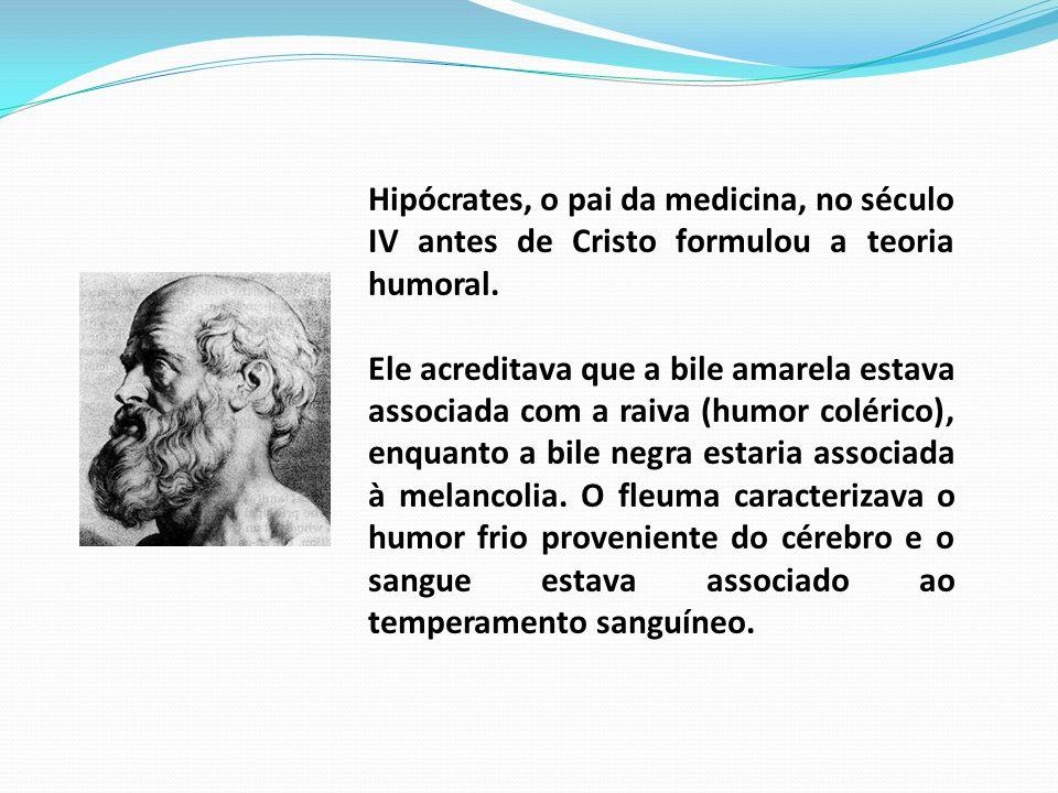 Hipócrates, o pai da medicina, no século IV antes de Cristo formulou a teoria humoral. Ele acreditava que a bile amarela estava associada com a raiva