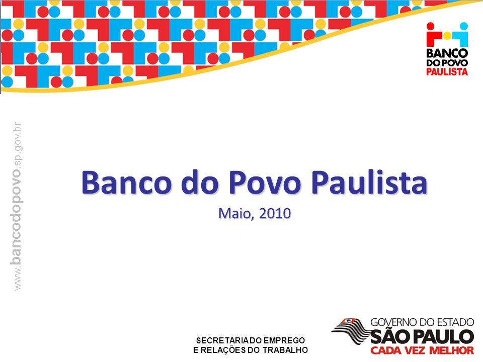 SECRETARIA DO EMPREGO E RELAÇÕES DO TRABALHO www. bancodopovo.sp.gov.br Banco do Povo Paulista Maio, 2010