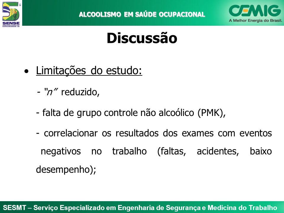 SESMT – Serviço Especializado em Engenharia de Segurança e Medicina do Trabalho ALCOOLISMO EM SAÚDE OCUPACIONAL ALCOOLISMO EM SAÚDE OCUPACIONAL Discus