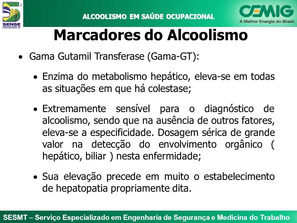 SESMT – Serviço Especializado em Engenharia de Segurança e Medicina do Trabalho ALCOOLISMO EM SAÚDE OCUPACIONAL ALCOOLISMO EM SAÚDE OCUPACIONAL Marcad