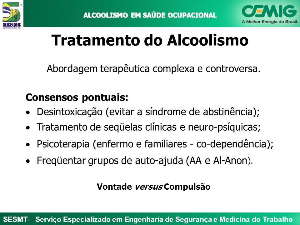 SESMT – Serviço Especializado em Engenharia de Segurança e Medicina do Trabalho ALCOOLISMO EM SAÚDE OCUPACIONAL ALCOOLISMO EM SAÚDE OCUPACIONAL Tratam