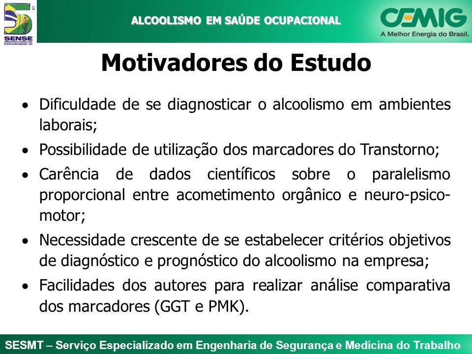 SESMT – Serviço Especializado em Engenharia de Segurança e Medicina do Trabalho ALCOOLISMO EM SAÚDE OCUPACIONAL ALCOOLISMO EM SAÚDE OCUPACIONAL Motiva
