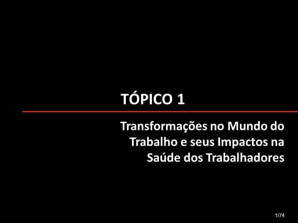 TÓPICO 1 1/74 Transformações no Mundo do Trabalho e seus Impactos na Saúde dos Trabalhadores