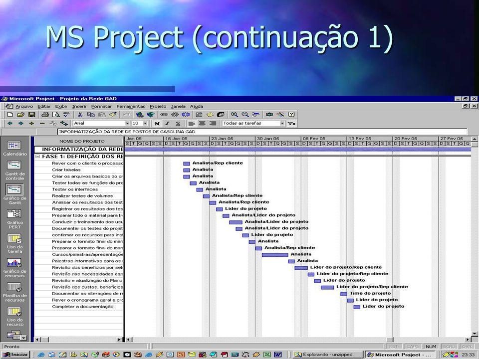 MS Project (continuação 1)