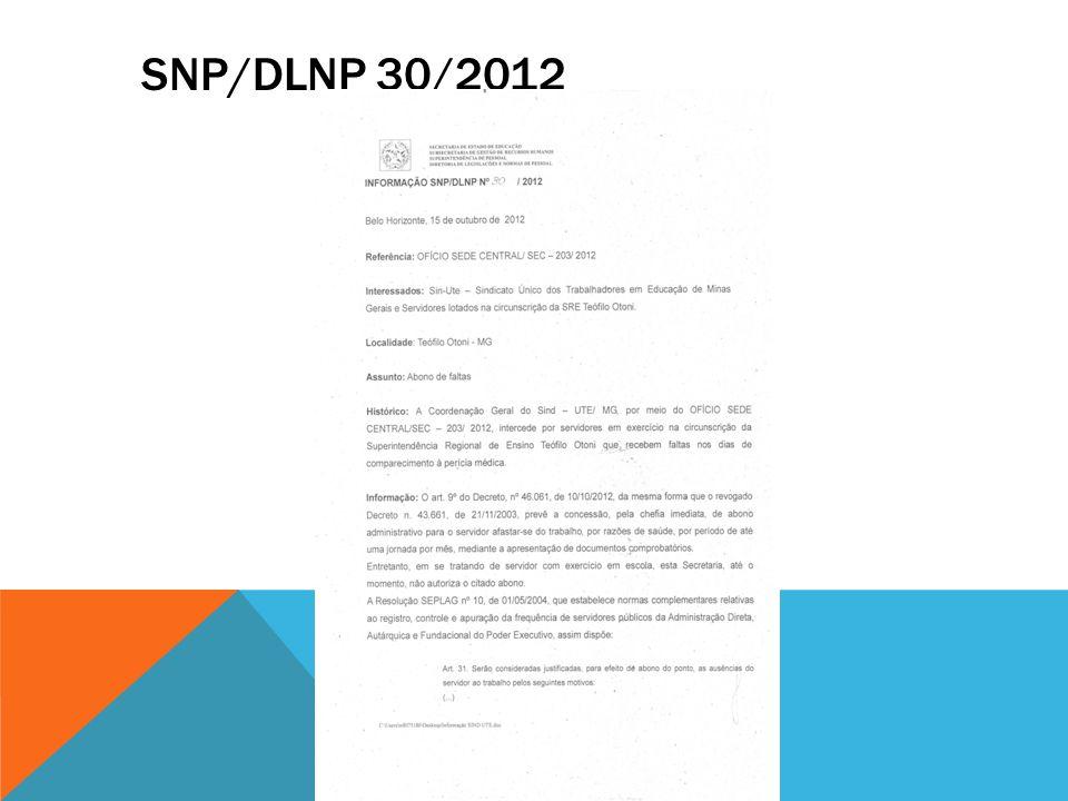 SNP/DLNP 30/2012