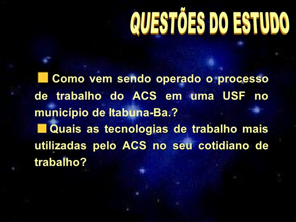 ..Como vem sendo operado o processo de trabalho do ACS em uma USF no município de Itabuna-Ba..