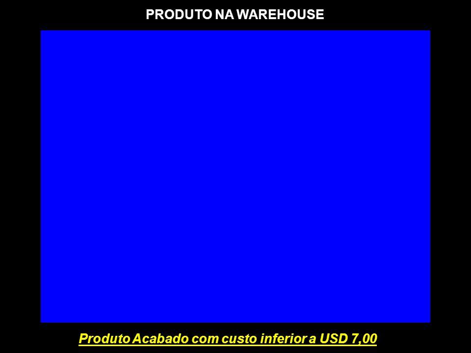 PRODUTO NA WAREHOUSE Produto Acabado com custo inferior a USD 7,00