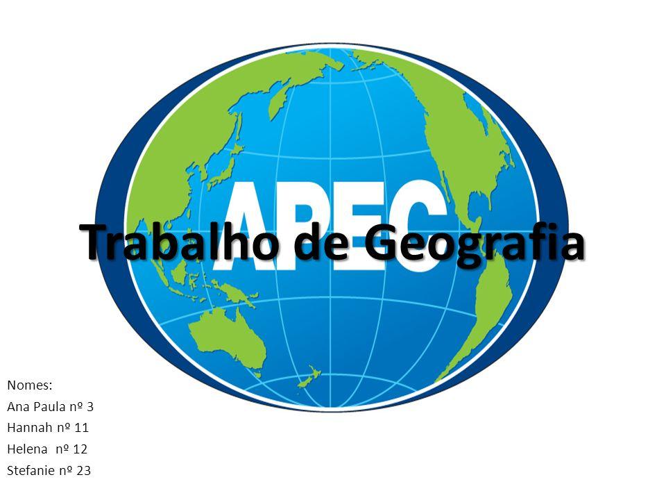 Bibliografia http://en.wikipedia.org/wiki/Asia-Pacific_Economic_Cooperation http://www.mundovestibular.com.br/articles/548/1/BLOCOS-ECONOMICOS--- Mercosul--Uniao-Europeia-Alca-Nafta-Apec www.google.com Livro Araribá - volume 8