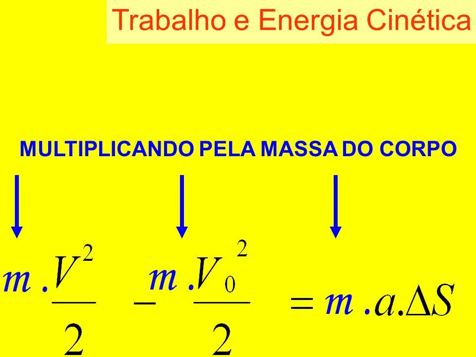 Trabalho e Energia Cinética MULTIPLICANDO PELA MASSA DO CORPO m.