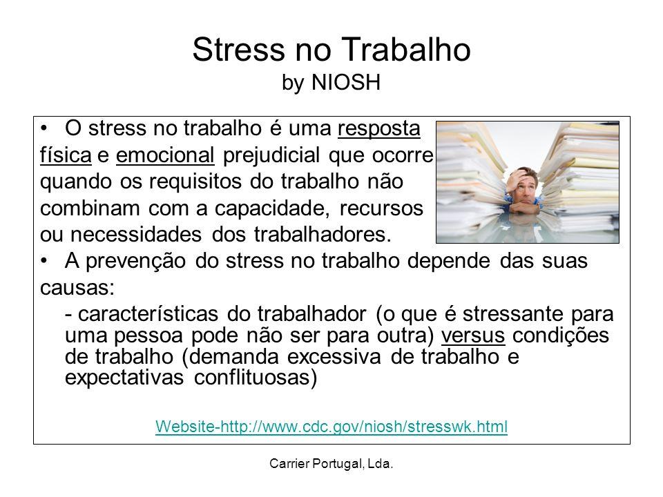 Carrier Portugal, Lda.Stress no Trabalho cont.
