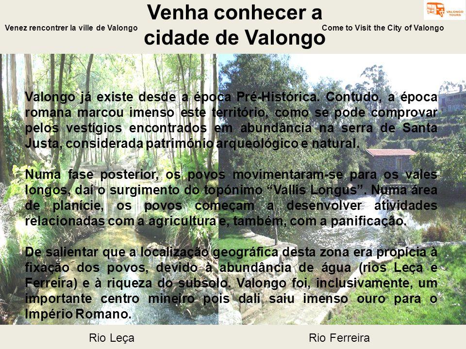 Venha conhecer a cidade de Valongo Come to Visit the City of Valongo Valongo já existe desde a época Pré-Histórica. Contudo, a época romana marcou ime