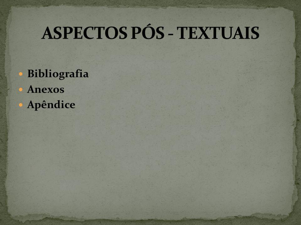 Bibliografia Anexos Apêndice