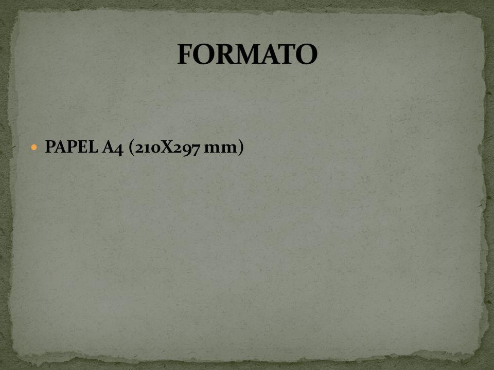 PAPEL A4 (210X297 mm)