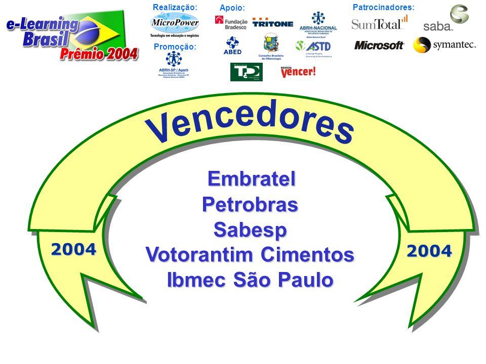 Realização: Patrocinadores: Promoção: Apoio: Embratel Embratel Petrobras Petrobras Sabesp Sabesp Votorantim Cimentos Votorantim Cimentos Ibmec São Pau