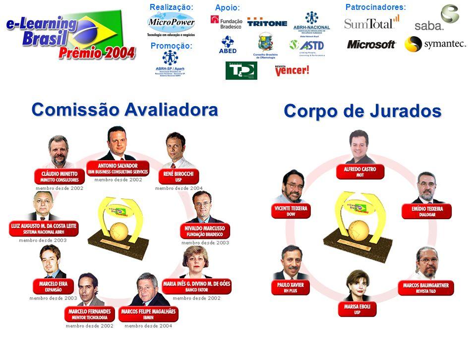 Realização: Patrocinadores: Promoção: Apoio: 13 Finalistas – Referências Nacionais 2004 (em ordem alfabética) 1.