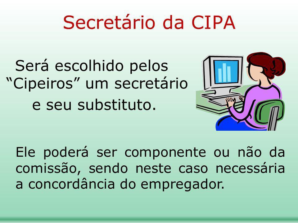 Será escolhido pelos Cipeiros um secretário e seu substituto.