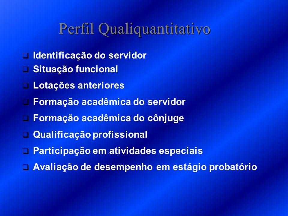 Pesquisa de Campo Elaboração do Perfil Qualiquantitativo, a partir de: entrevista; preenchimento de instrumentais qualiquantitativos; observação direta e indireta.
