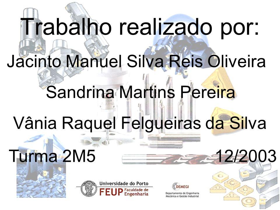 Trabalho realizado por: Jacinto Manuel Silva Reis Oliveira Sandrina Martins Pereira Vânia Raquel Felgueiras da Silva Turma 2M5 12/2003