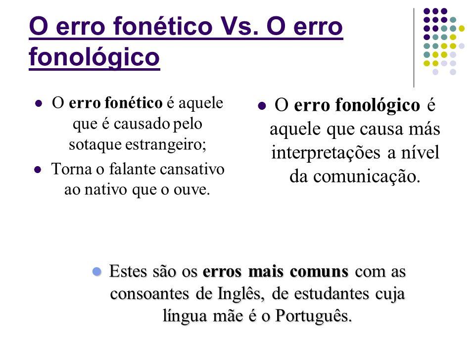 Existem dois tipos de consoante: Ao Ao contrário das vogais, as consoantes equivalem normalmente, entre duas línguas, o que permite uma fácil transfer