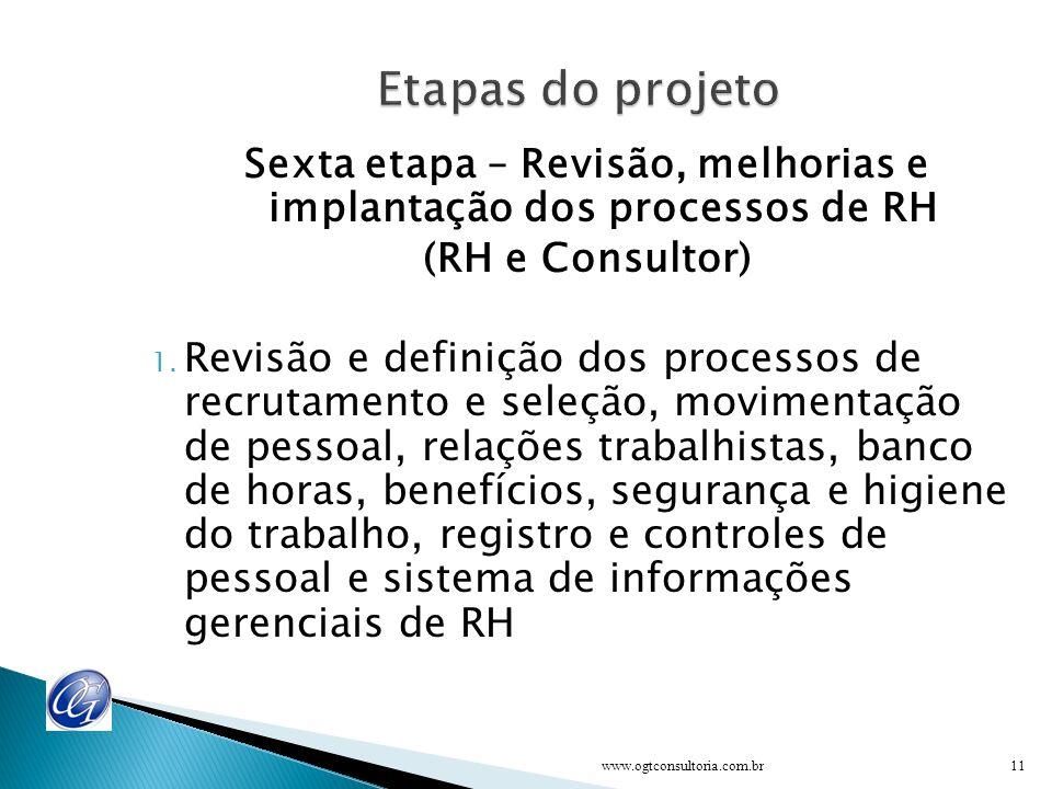 Quinta etapa – Programa de treinamento e desenvolvimento empresa (Equipe, RH e Consultor) 1. Formação de multiplicadores e instrutores internos 2. Lev