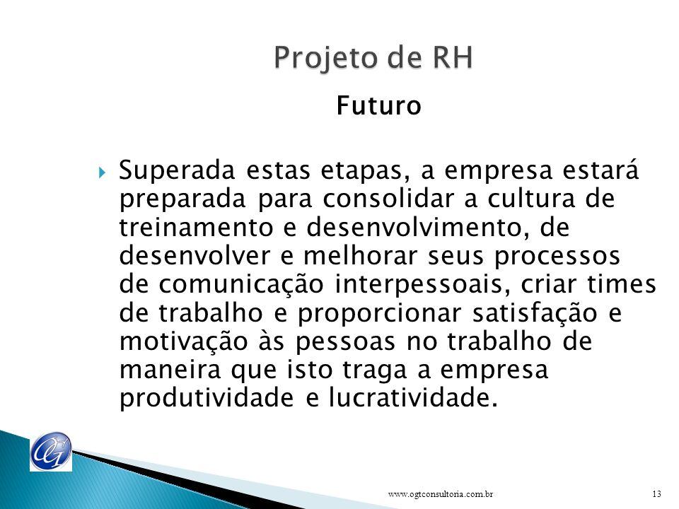 Metodologia de trabalho O projeto será realizado pela equipe de RH e consultor em função das definições do grupo de gerentes / diretoria e pessoas cha