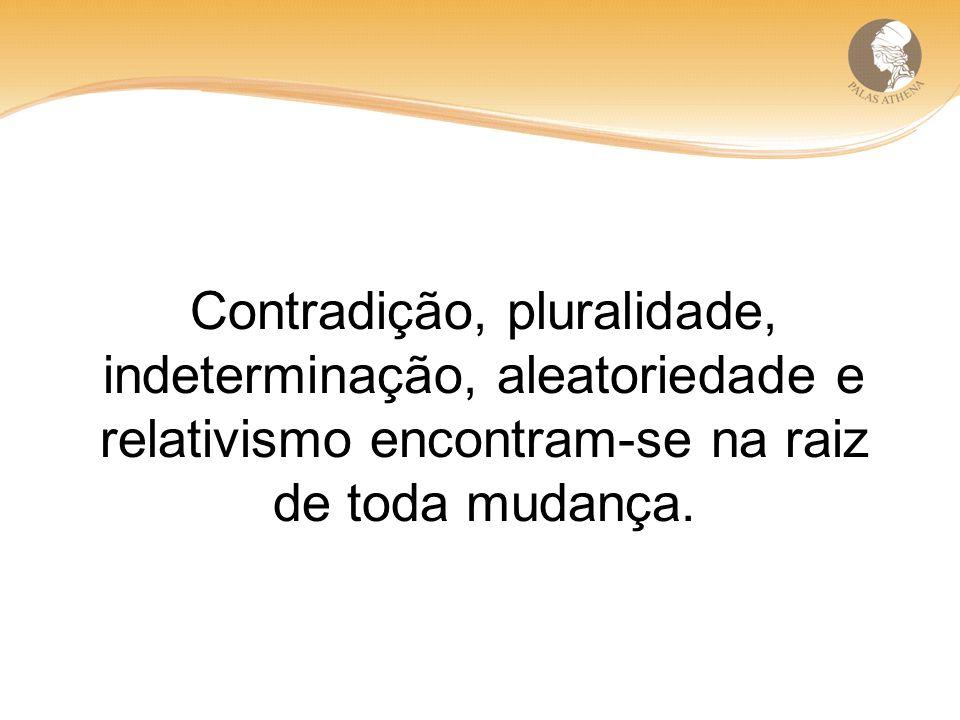 Contradição, pluralidade, indeterminação, aleatoriedade e relativismo encontram-se na raiz de toda mudança.