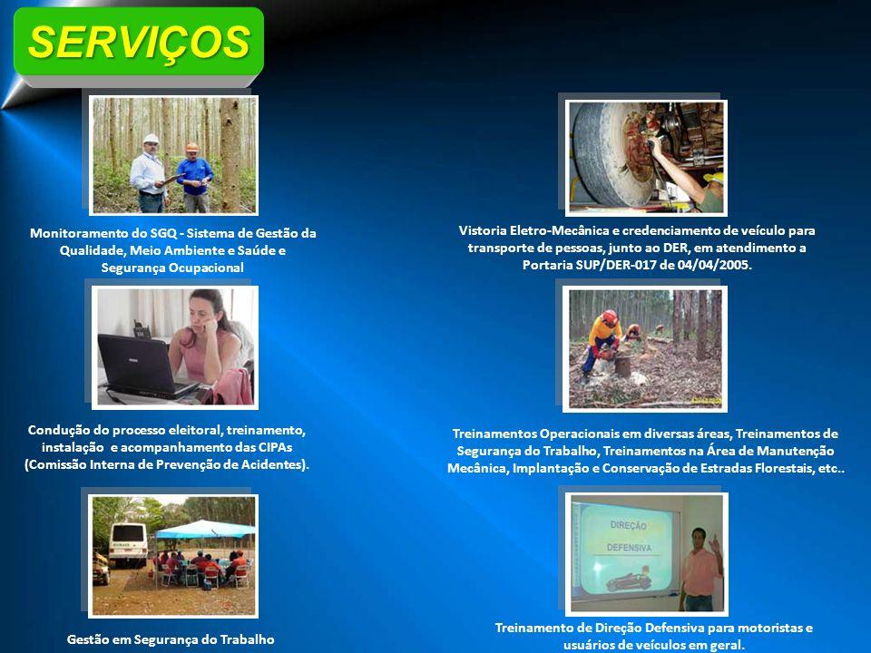 Monitoramento do SGQ - Sistema de Gestão da Qualidade, Meio Ambiente e Saúde e Segurança Ocupacional Vistoria Eletro-Mecânica e credenciamento de veíc