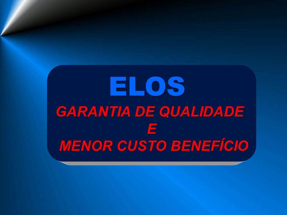 ELOS GARANTIA DE QUALIDADE E MENOR CUSTO BENEFÍCIO MENOR CUSTO BENEFÍCIO