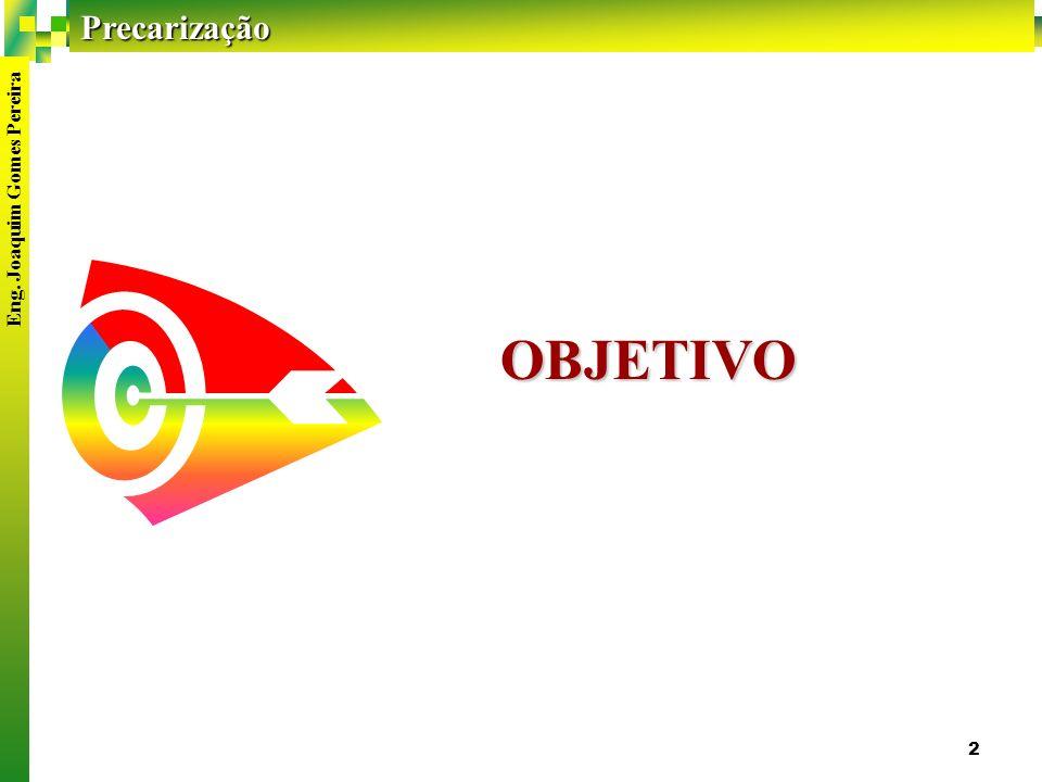 Precarização Eng. Joaquim Gomes Pereira 2 OBJETIVO