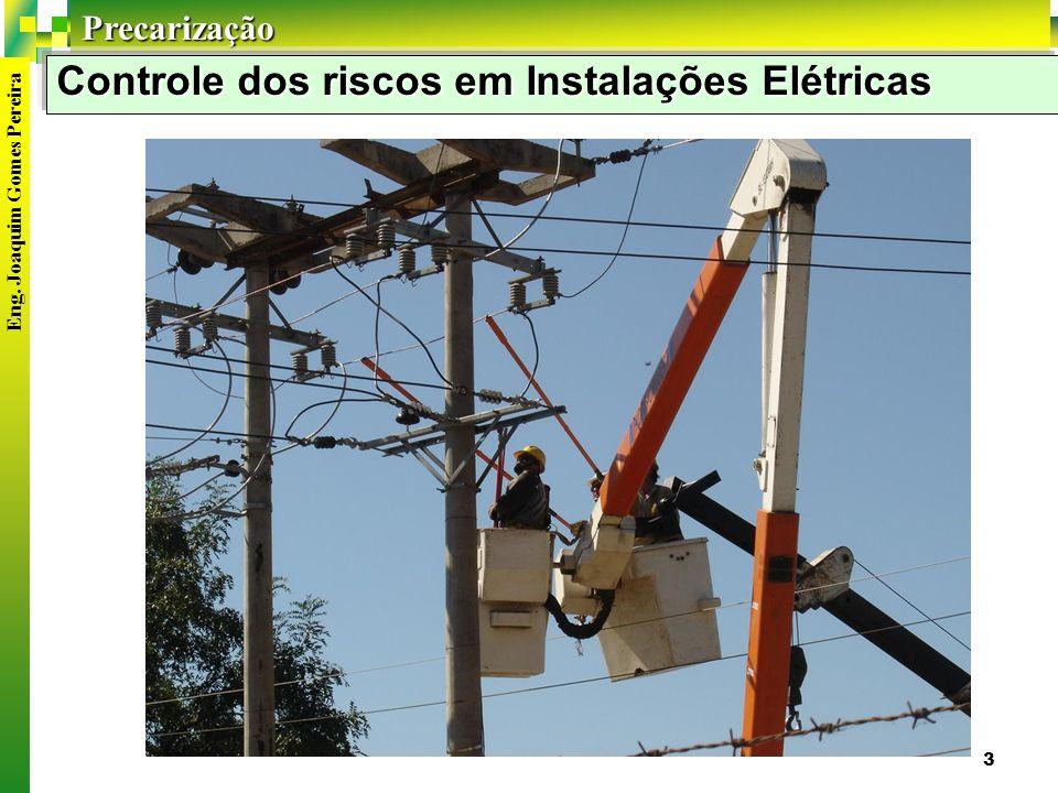 Precarização 3 Controle dos riscos em Instalações Elétricas