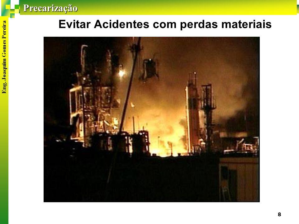 Precarização Eng. Joaquim Gomes Pereira 8 Evitar Acidentes com perdas materiais