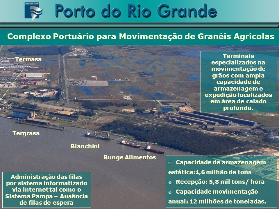 Complexo Portuário para Movimentação de Granéis Agrícolas Tergrasa Bianchini Bunge Alimentos Termasa Terminais especializados na movimentação de grãos