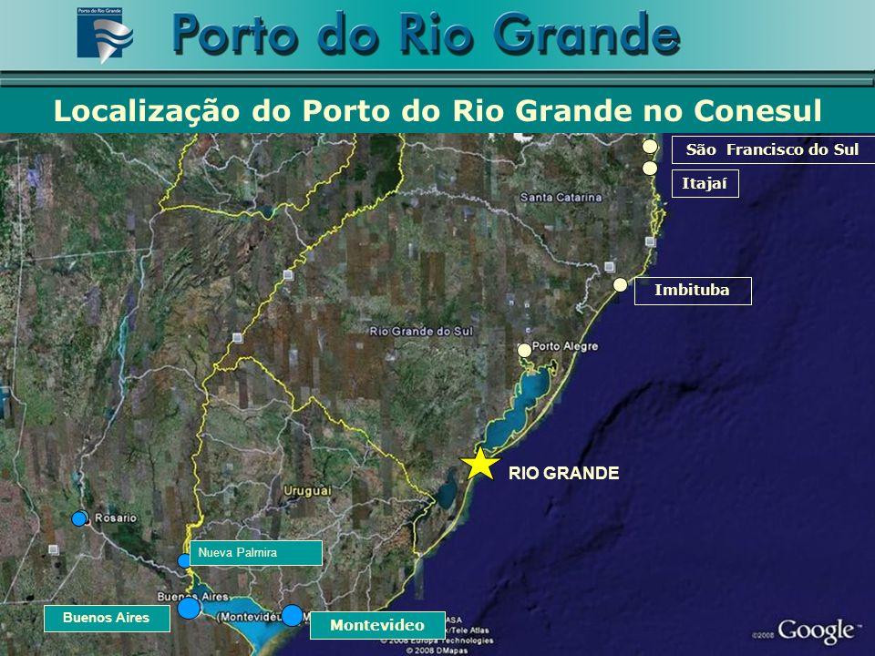 Localizado no centro do Conesul, está estrategicamente localizado na principal rota de movimentação de cargas do continente sulamericano A estrutura portuária do Porto do Rio Grande para ser um Porto Concentrador