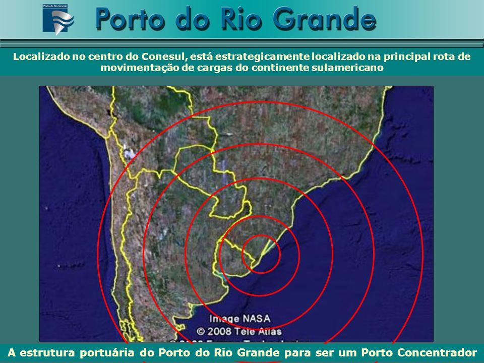 Localizado no centro do Conesul, está estrategicamente localizado na principal rota de movimentação de cargas do continente sulamericano A estrutura p