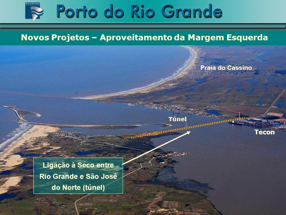 Praia do Cassino Tecon Túnel Novos Projetos – Aproveitamento da Margem Esquerda Ligação à Seco entre Rio Grande e São José do Norte (túnel)