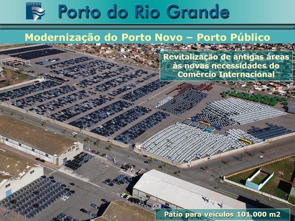 Revitalização de antigas áreas às novas necessidades do Comércio Internacional Modernização do Porto Novo – Porto Público Pátio para veículos 101.000