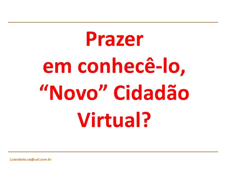 Prazer em conhecê-lo, Novo Cidadão Virtual?