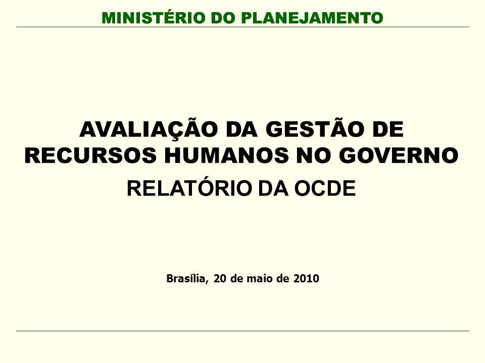 MINISTÉRIO DO PLANEJAMENTO AVALIAÇÃO DA GESTÃO DE RECURSOS HUMANOS NO GOVERNO RELATÓRIO DA OCDE MINISTÉRIO DO PLANEJAMENTO Brasília, 20 de maio de 201