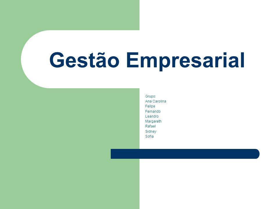 Gestão Empresarial Grupo: Ana Carolina Felipe Fernando Leandro Margareth Rafael Sidney Sofia