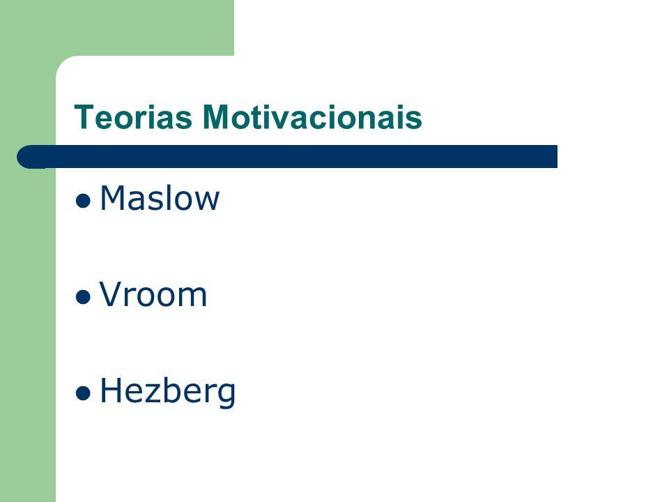 Teorias Motivacionais Maslow Vroom Hezberg