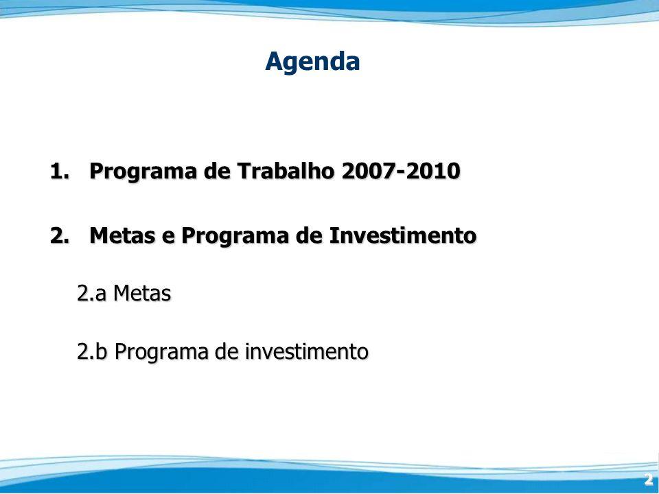 2 1.Programa de Trabalho 2007-2010 2.