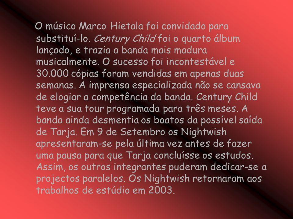 O músico Marco Hietala foi convidado para substituí-lo.