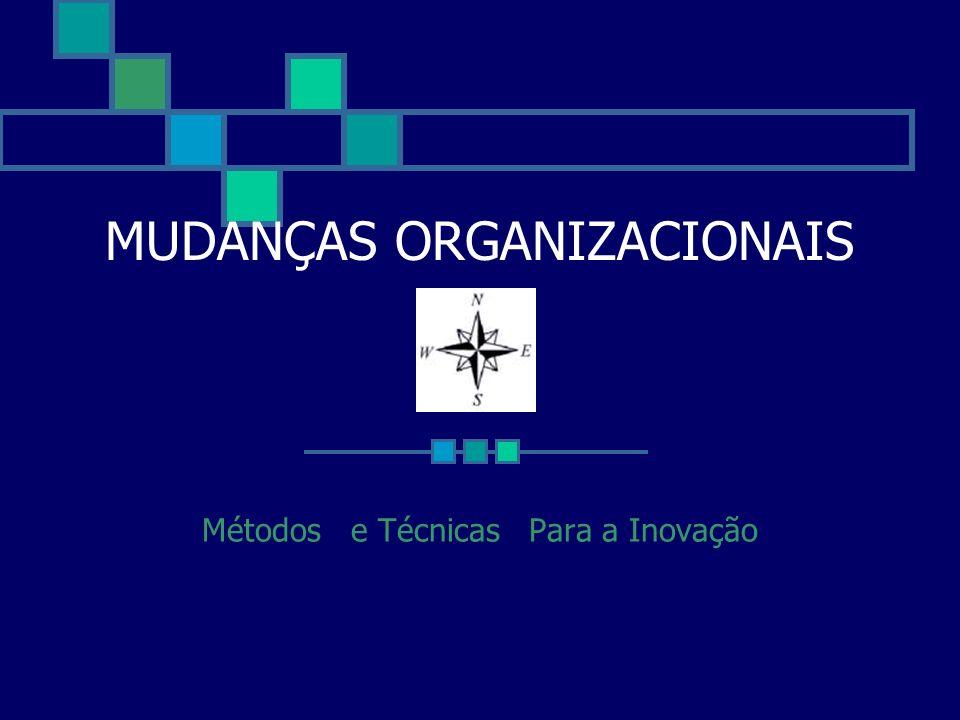 MUDANÇAS ORGANIZACIONAIS Métodos e Técnicas Para a Inovação